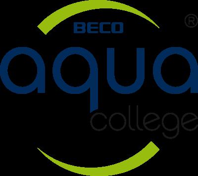 aqua college logo round